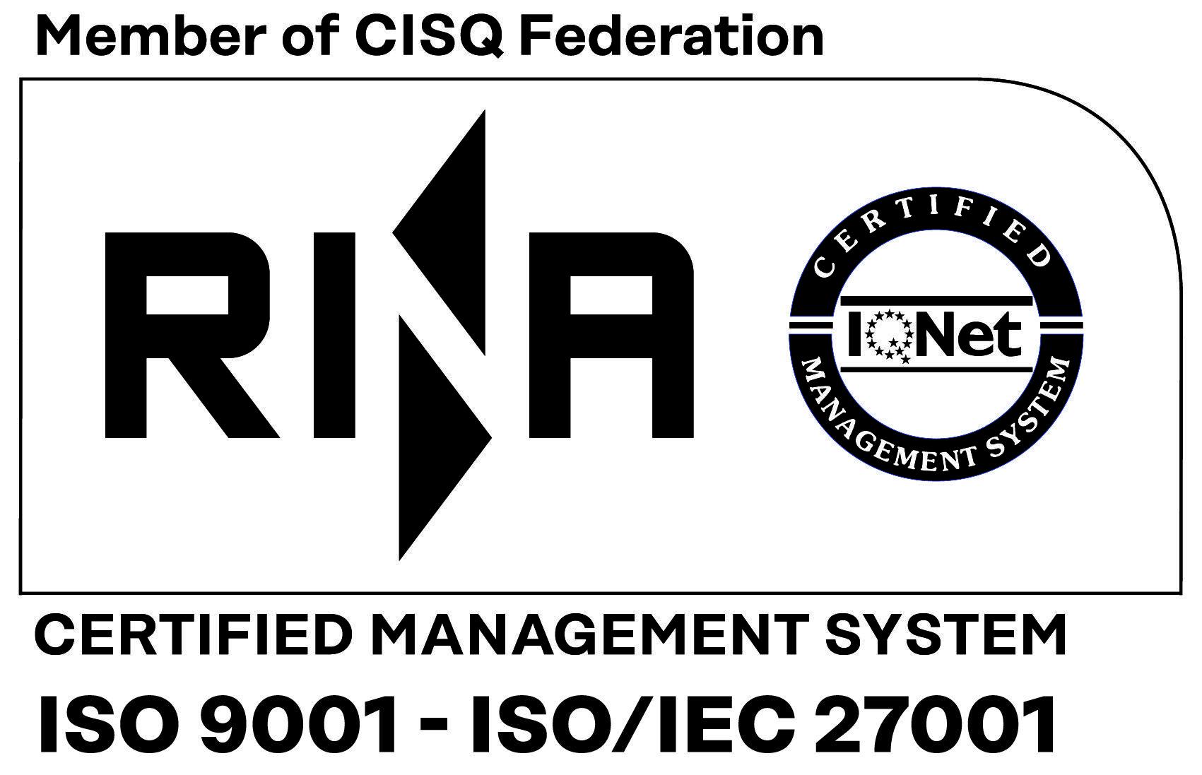 Certificazione ISO 9001 e ISO 27001